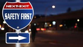 Primo segnale stradale di sicurezza illustrazione vettoriale