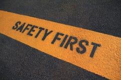 Primo segno di sicurezza Fotografia Stock Libera da Diritti
