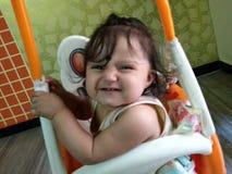 Primo sorriso del Teethy di Drishti fotografia stock libera da diritti