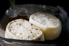 Primo sprzedaży ser doprawiający z zdruzgotanym pieprzem Fotografia Stock