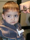 Primo taglio dei capelli Fotografie Stock