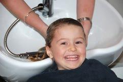 Primo taglio di capelli Fotografie Stock