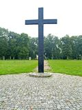 PRIMORSK, RUSSIA. A memorable cross at the German military cemetery of World War II. PRIMORSK, RUSSIA - AUGUST 21, 2012: A memorable cross at the German military royalty free stock photography