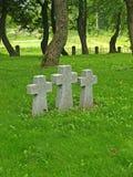 Primorsk Ryssland Kors på den tyska militära kyrkogården av världskrig II Arkivfoto