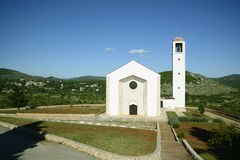 Primorski dolac的教会 库存照片