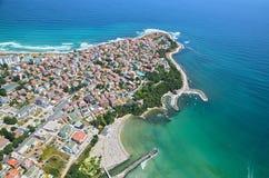 Primorsko strand, Bulgarien Fotografering för Bildbyråer