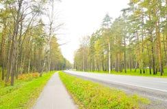 Primorskoe Highway in St.Petersburg. Royalty Free Stock Photo