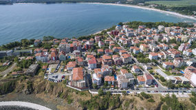 Primorskostad en het Zuidenstrand van hierboven Stock Afbeelding