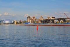 Primorsky-Allee und das Finnische Meerbusen in St Petersburg, Russland Stockfoto