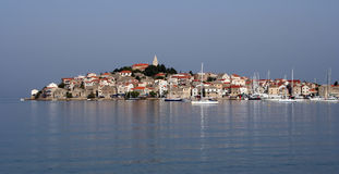 Primosten. Is a town in Adriatic sea, croatia Royalty Free Stock Image