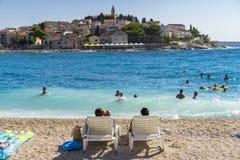 Primosten, Kroatien, am 14. August 2017 Lizenzfreies Stockfoto
