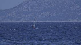 Primosten windsurfing stock video