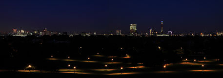 Primrose Hill, London. Primrose Hill at night, London Stock Images