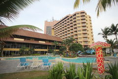 Primula Beach Resort , Terengganu , Malaysia. Welcome to our hotel! Fast Reservation Stock Photos