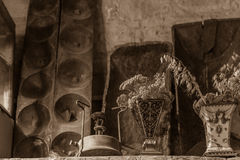 Primus Stove, Vases and other traditional Cypriot village house Stock Photos