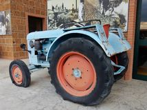 Primus Tractor. Benevento, Campania, Italy - April 12, 2017: Tractor Primus on display at Musa, the museum`s pole of technique and work in agriculture Royalty Free Stock Image
