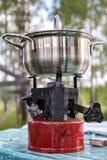 Primus velho do fogão de acampamento imagem de stock royalty free