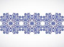 Prin floral élégant de décoration de frontière sans couture de vintage d'arabesque Photo libre de droits