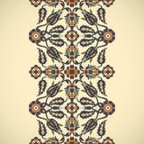 Prin floral élégant de décoration de frontière sans couture de vintage d'arabesque Photos stock