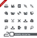 Princípios de // dos ícones do Web Imagem de Stock Royalty Free