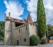 Prince's kasztel Merano w centre zdroju miasteczko był miasta siedzibą obliczenia Tyrol Obrazy Royalty Free