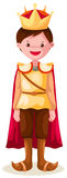 Prince. Illustration of isolated cartoon prince on white background royalty free illustration