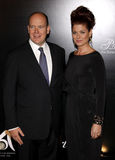 Prince Albert II and Debra Messing Royalty Free Stock Images