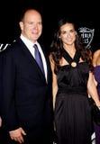 Prince Albert II and Demi Moore Stock Photography