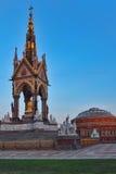 Prince Albert Memorial and Royal Albert Hall near Kensington Gardens in London. Stock Photos