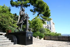 Prince Albert 1st memorial in Monaco. Prince Albert 1st statue in Monaco Royalty Free Stock Photo