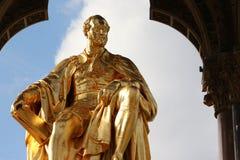Prince Albert. Statue. Located in Kensington Gardens, London stock photos