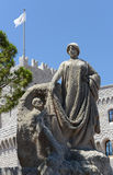 Prince Albert Statue in Monaco Royalty Free Stock Photography