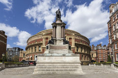 Prince Albert statue and Royal Albert Hall Stock Photos