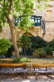 The Prince Alfred`s Courtyard of the Grandmaster`s Palace. Valle. The view of the inner Alfred`s Courtyard of the Grandmaster`s Palace. Valletta. Malta Stock Photos