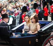 Prince Andrew with Princess Beatrice & Princess Eugenie royalty free stock photo