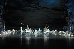 The prince asks Ojta for forgiveness-The last scene of Swan Lake-ballet Swan Lake. In December 20, 2014, Russia's St Petersburg Ballet Theater in Jiangxi royalty free stock photo