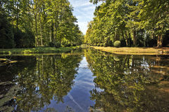 Prince basin in Chantilly Castle Park Royalty Free Stock Images