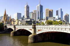 Prince bridge scenery city of Melbourne Stock Image