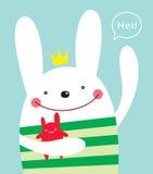 Prince bunny doodle stock illustration