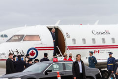 Prince Charles arrives in Canada Royalty Free Stock Photo