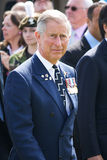 Prince charles @ Bayeux. Bonnie Prince charlie arrives at the d-day 50th anniversary at Bayeux Cementry, France stock image