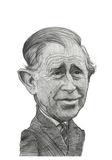 Prince Charles Caricature Sketch illustration stock