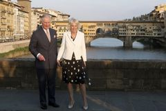 Prince Charles of England and his wife Camilla Parker Bowles, Duchess of Cornwall. royalty free stock photos