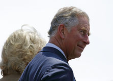 Prince Charles Profile Saint John. Charles, Prince of Wales, takes part in a ceremony at the Marco Polo cruise terminal with Camilla, Duchess of Cornwall, on May royalty free stock photo