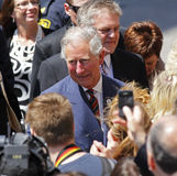 Prince Charles Walkabout Saint John Royalty Free Stock Photos