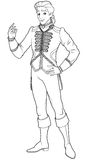 Prince Charming Coloring Page Royalty Free Stock Photos
