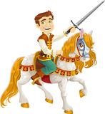 Prince Charming on a white horse Royalty Free Stock Images