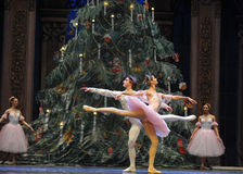 The prince and Clara dance-Tableau 3-The Ballet  Nutcracker Royalty Free Stock Images