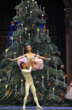The prince Clara hold up-The Ballet  Nutcracker Stock Images