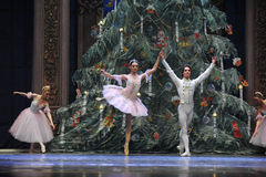 The prince and Clara-Tableau 3-The Ballet  Nutcracker Stock Images